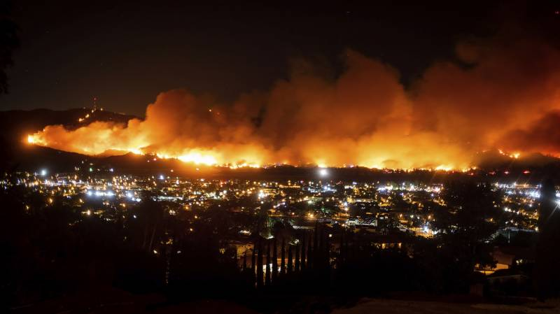 Warnings issued after Wildfire in California displaces thousands