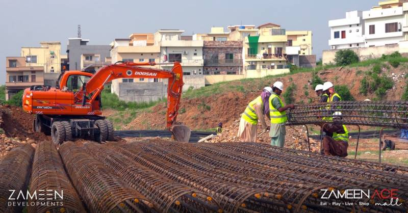 Construction work begins on Zameen Ace Mall in DHA Islamabad