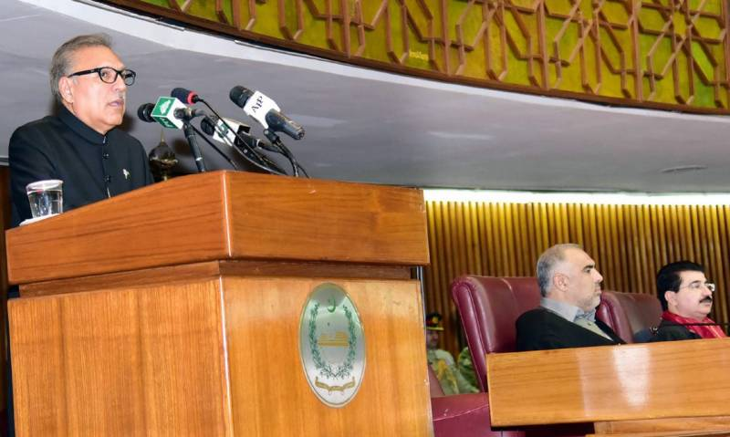 President, Dr Alvi urges Int'l community to take notice of military siege in IIOJ&K
