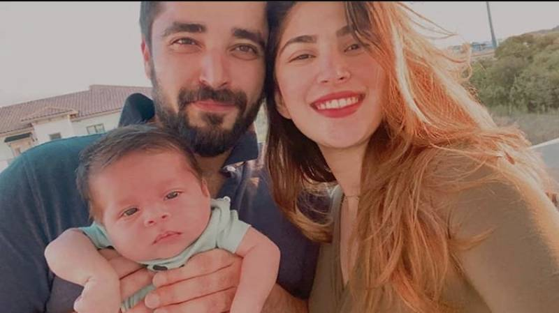 Hamza Ali Abbasi, Naimal Khawar post pictures with son on one year anniversary