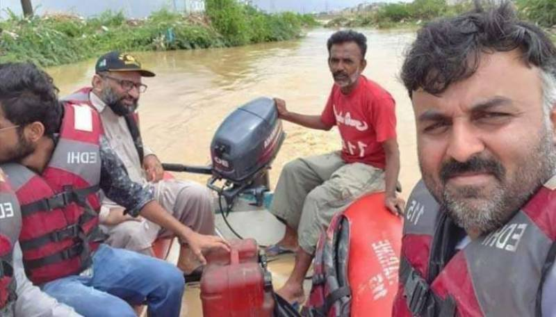 Faisal Edhi, PTI lamaker survive drowning during Karachi rescue operation