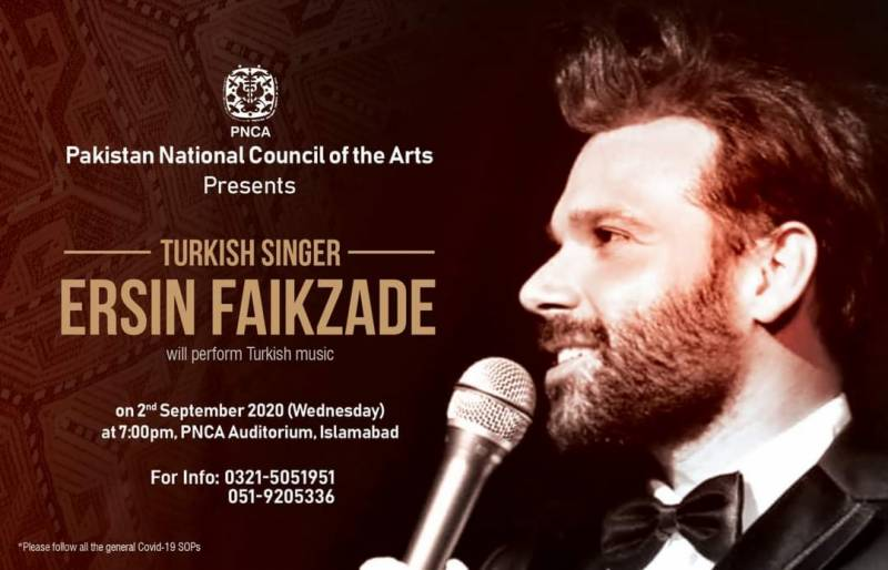 Turkey's Ersin Faikzade to perform in Pakistan next week