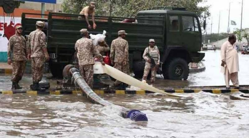 Army sets up emergency control center as floods leave 5 dead in Karachi