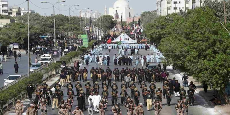 Central 10th Muharram procession culminates peacefully in Karachi