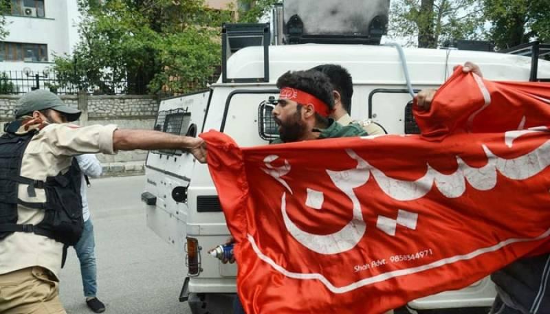 Indian troops firing pellets, tear gas shells on Kashmiri mourners