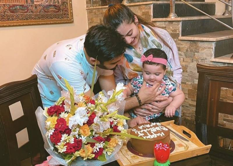 Aiman, Muneeb Butt celebrate Amal's first birthday over the weekend