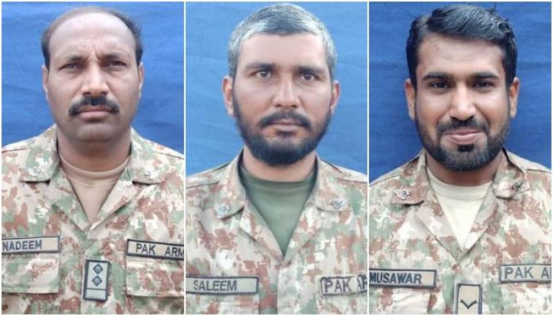 Three soldiers martyred in South Waziristan