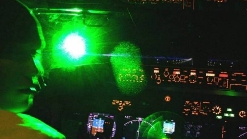 Laser light targets Int'l flight before landing at Islamabad airport