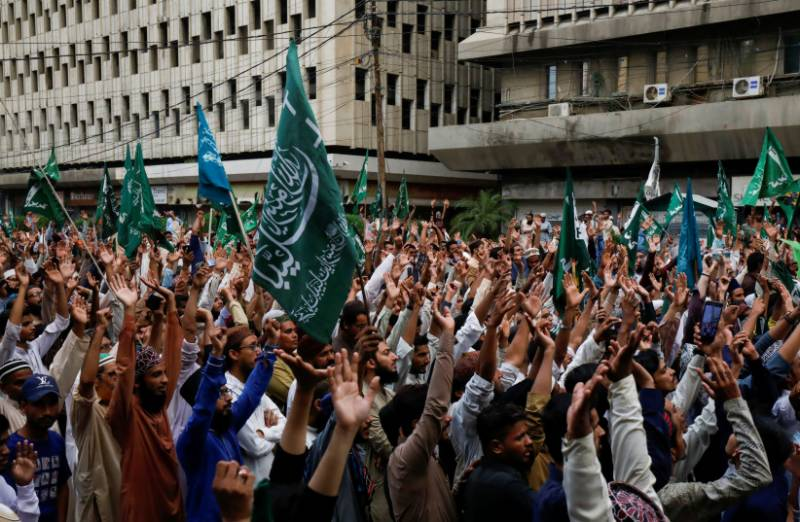Protest in Karachi over French satirical weekly