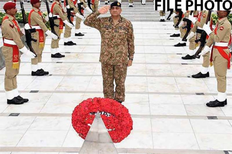 Defense Day: COAS Bajwa lays floral wreath at martyrs' monument