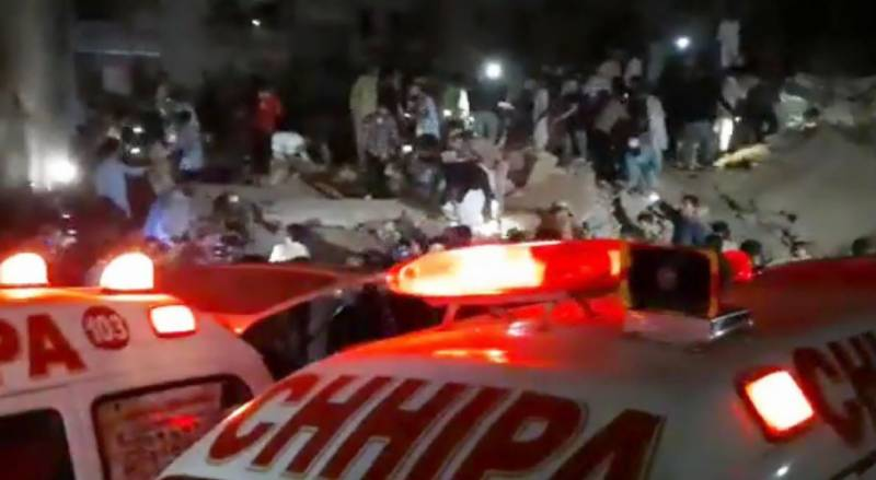 Causalities feared after two-storey building collapses in Karachi's Lyari