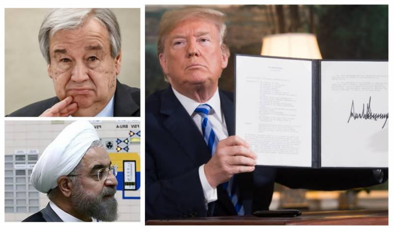 UN chief refuses to take action on US request to restore sanctions against Iran