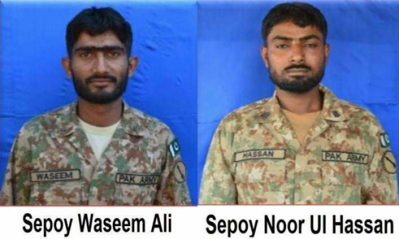 Two Pakistani soldiers martyred in India firing at LoC