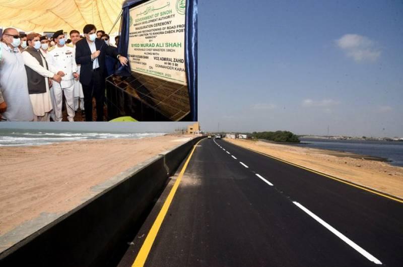 Sindh CM inaugurates Manora Beach Road