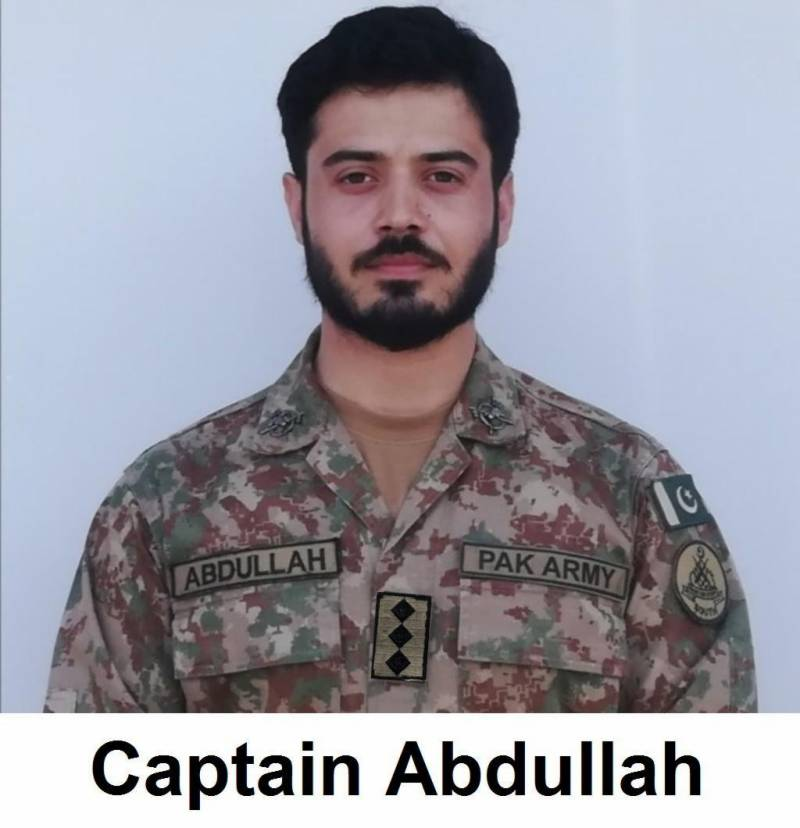 25-year-old Capt Abdullah martyred in encounter with terrorists in Waziristan