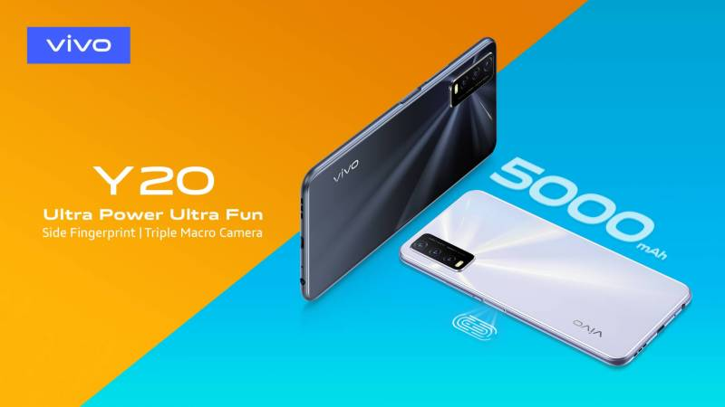 vivo launches Y20 with 5000mAh Battery, Triple Macro Camera and Side Fingerprint