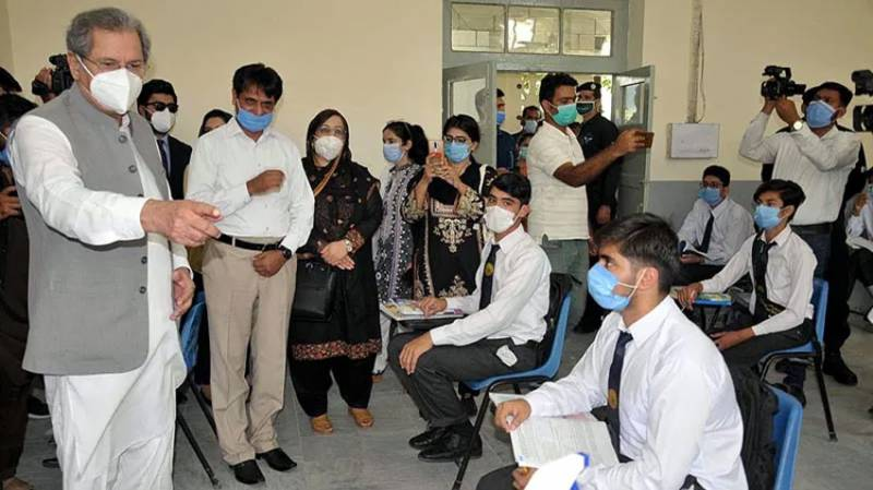 Edu minister visits Islamabad schools as students rejoin classes under strict Covid-19 SOPs
