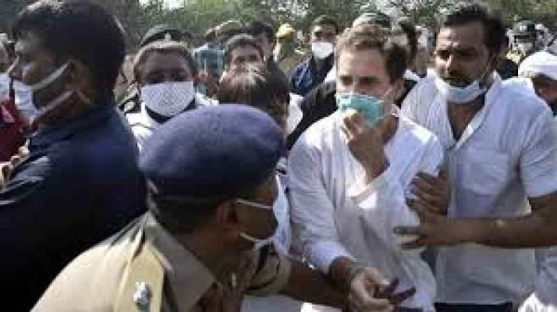 Indian police arrest Rahul Gandhi on his way to visit Dalit gang-rape victim family