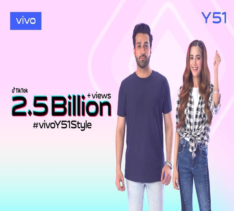 vivo Pakistan sets a new record with 2.5 billion views for #vivoY51Style Challenge on TikTok