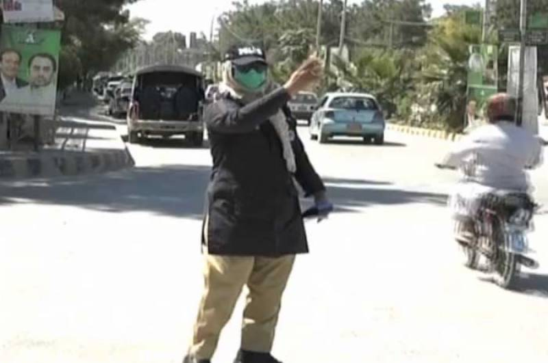 First-ever female traffic cop appointed in Quetta