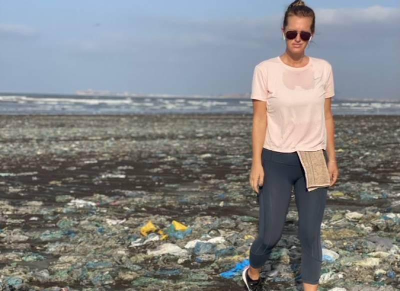 Shaniera Akram laments the constant garbage dumping on Karachi beach