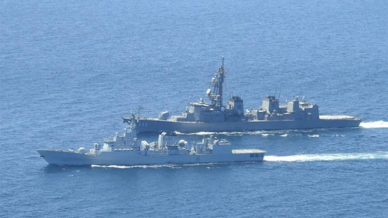 Passage Exercise with Japanese Maritime Self Defense Force Ship Onami in Gulf of Aden to ensure maritime security