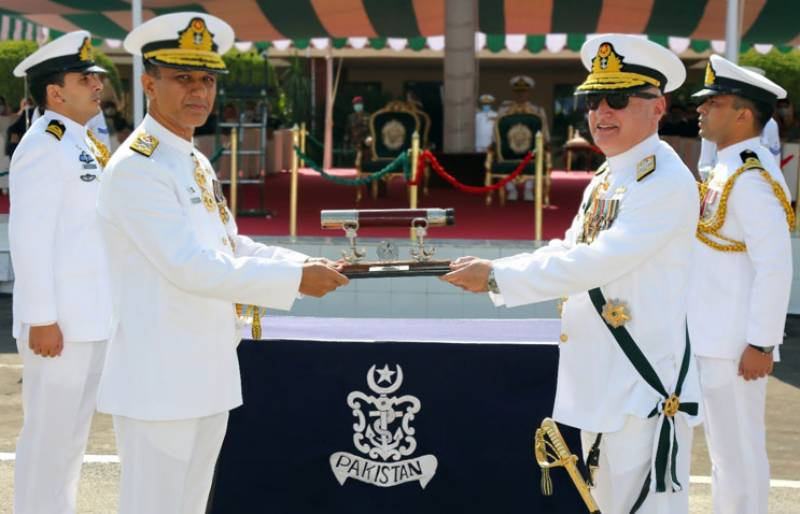 Admiral Amjad Khan Niazi takes charge as new Chief of Pakistan Navy