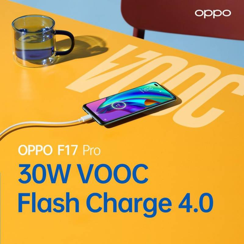 OPPO F17 Pro with 30W VOOC 4.0 flash charge to be launched in Pakistan next week