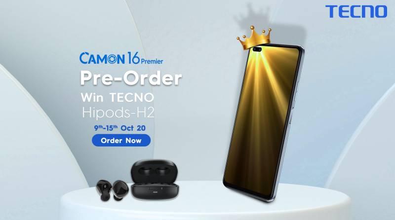 Tecno Camon 16 premier Pre-Orders to go Live today in Pakistan