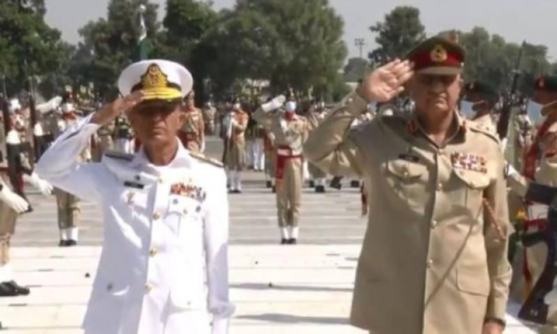 COAS Bajwa felicitates Admiral Niazi on assuming Pakistan Navy command