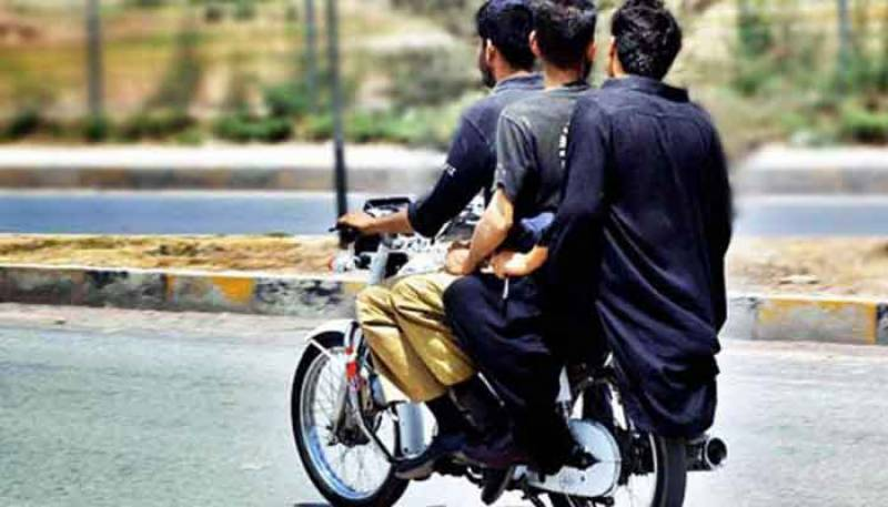 Pillion riding banned for 30 days in Karachi