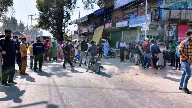 Massive protests in occupied J&K against rising Indian state terrorism