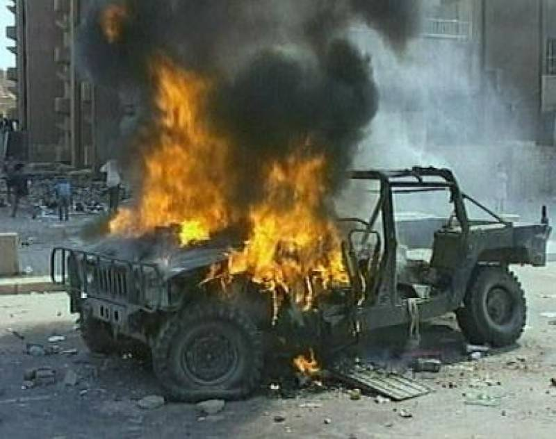 NATO convoy attacked in Khyber, Four Humvees torched