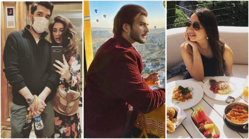 Iman Aly, Komal Aziz and Imran Abbas are currently vacationing in Turkey