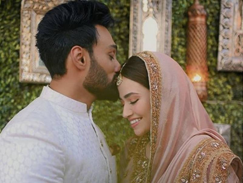 IN PICS: Sana Javed, Umair Jaswal share unseen shots of their Nikkah