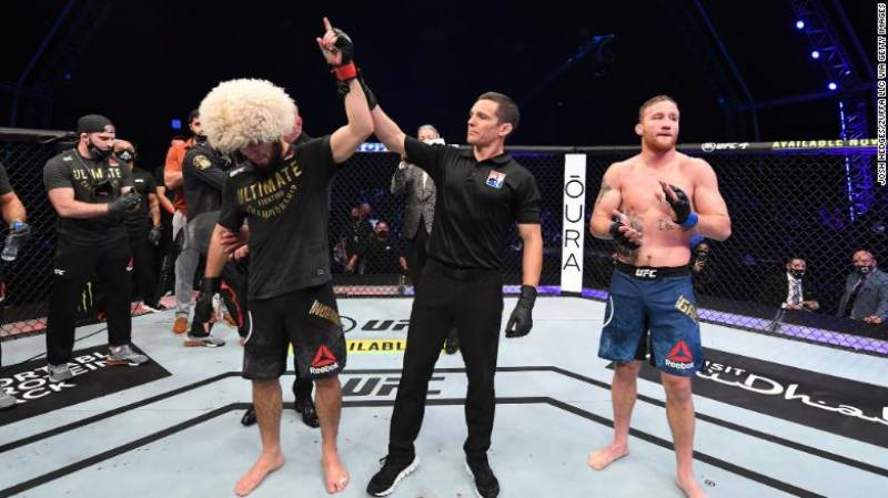 Undefeated UFC fighter Khabib Nurmagomedov announces retirement after latest victory