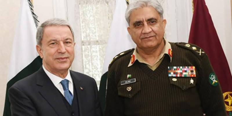 Turkish defence minister calls on Pakistan Army chief