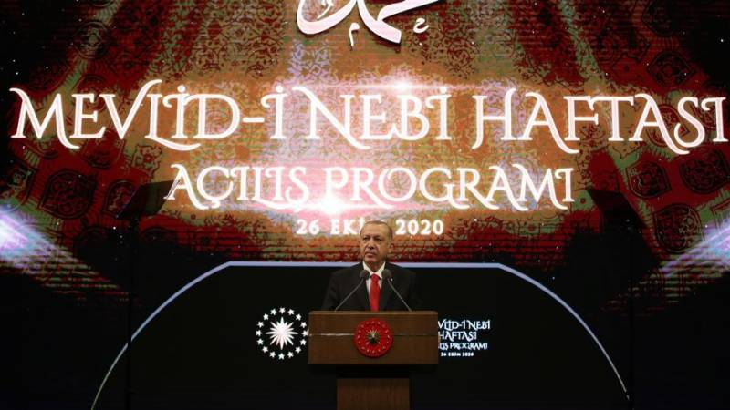 Turkish President Erdogan urges boycott of French products