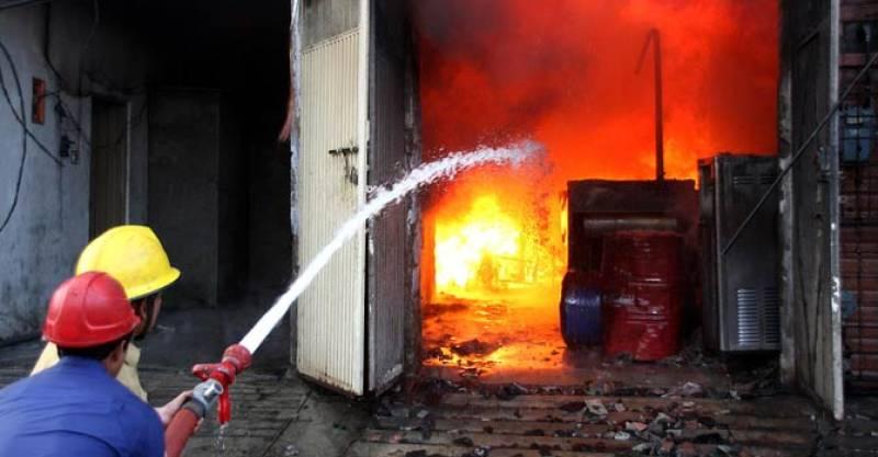 Fire breaks out at garment factory in Karachi