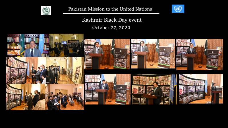 Pakistan Mission to the UN observed Kashmir Black Day in Solidarity with Kashmiris