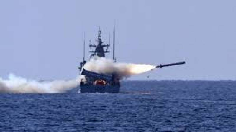 Pakistan Navy conducts successful demonstration of anti-ship missiles fire in Arabian Sea