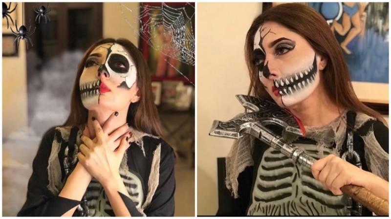 Spooky and Glam: Sharmila Farooqi slays a classic Halloween look