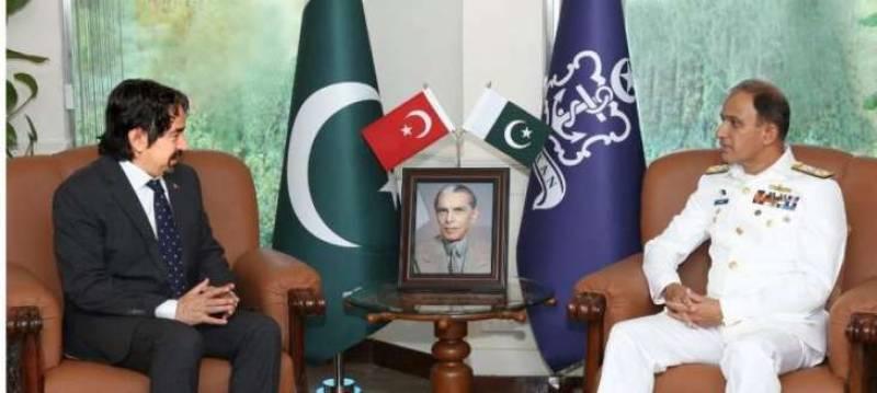 Turkish ambassador calls on Pakistan Navy chief
