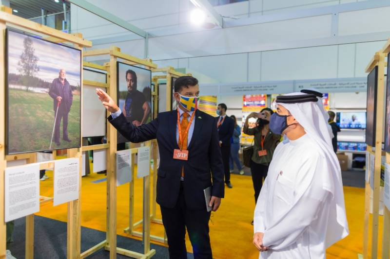 SBA chairman receives Swedish ambassador, discusses cultural cooperation at SIBF 2020