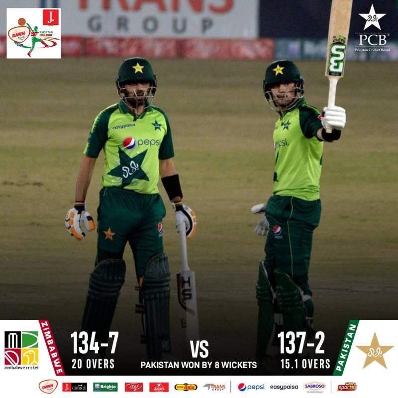 Pakistan beat Zimbabwe to win 2nd T20I