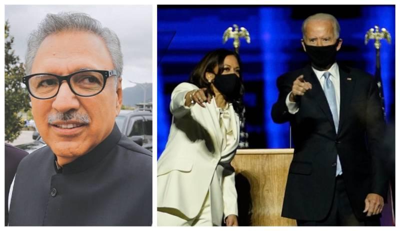 President Alvi congratulates Biden, Kamala on winning US election 2020