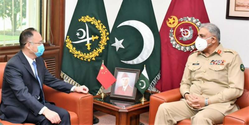 Top Chinese envoy calls on Pakistan Army chief to discuss regional security