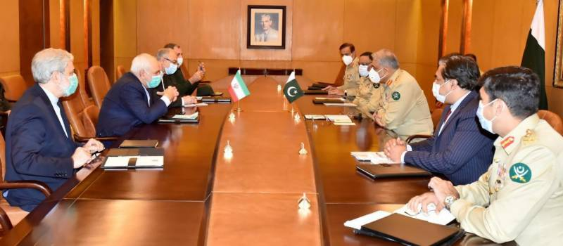 Iran FM meets Pakistan army chief to discuss border security, cooperation