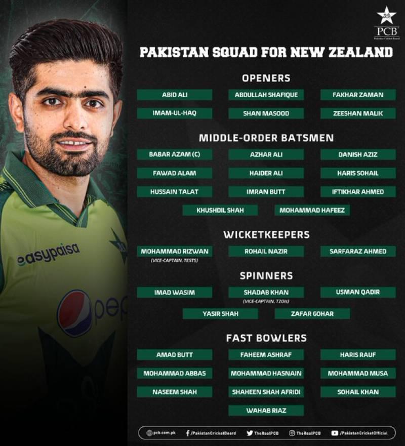 Pakistan announce 35-member squad for New Zealand tour