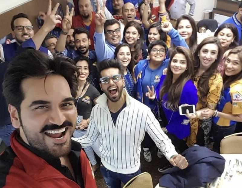 Asim Azhar, Humayun Saeed and others celebrate Karachi Kings PSL victory